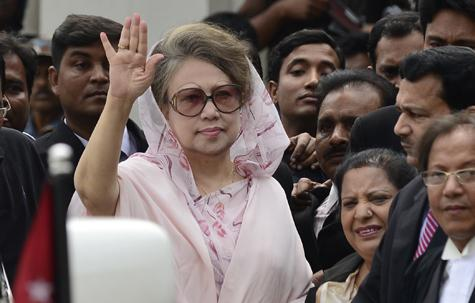 Khaleda Zia's supporter say the cases against her are politically motivated