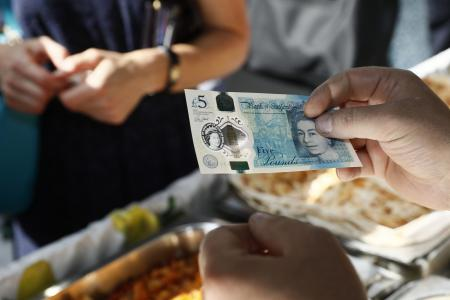 The £5 polymer note contains traces of tallow
