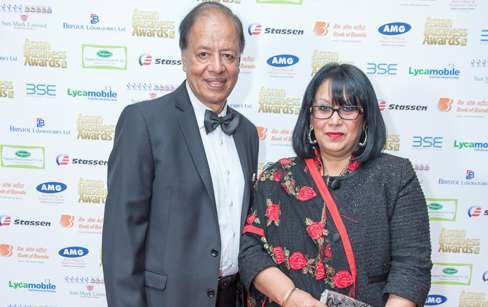 POLICIES: Baroness Sandip Verma (right) with her husband Ashok