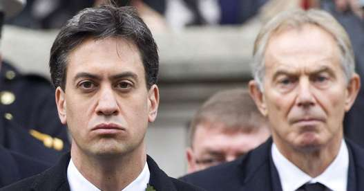 SUPPORT: Ed Miliband (left) and Tony Blair